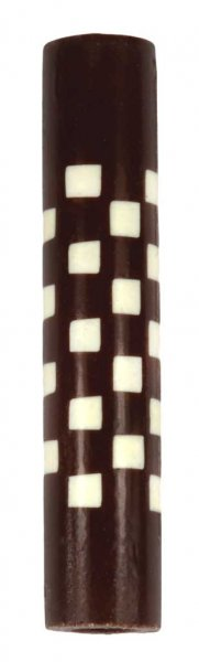 Weave Squeeze 360 Rotacrylic pen blank - White Brown & White close up