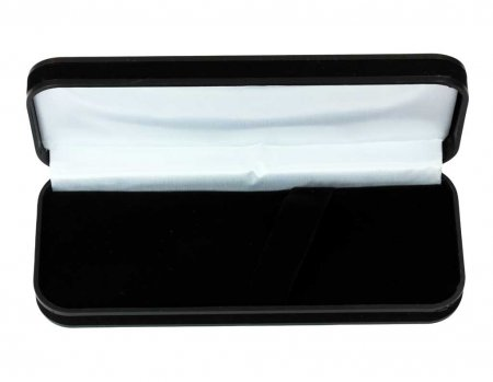 Black Velveteen Pen Box. Open with out a pen