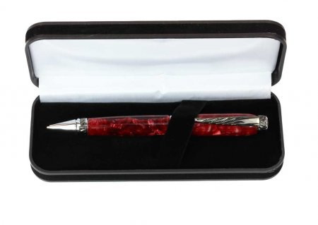 Black Velveteen Pen Box. Open View Alt 2