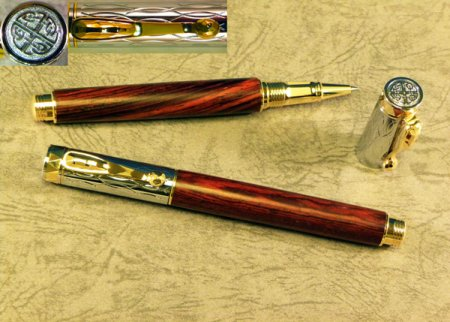 Electra Rollerball Pen Kit - Gold & Chrome 2