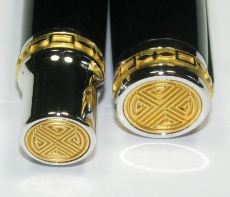 Jr Emperor Rollerball Pen Kit - Rhodium & 22K Gold cap
