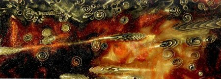 Fossilized Fantasy Blank - Fiery Brown close up