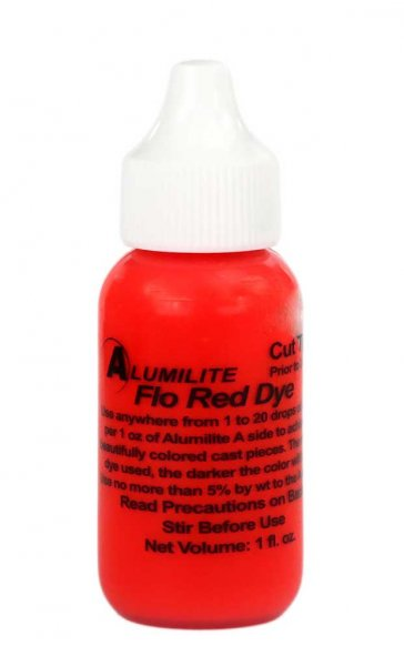 Alumilite Dye - 1oz Flo Red