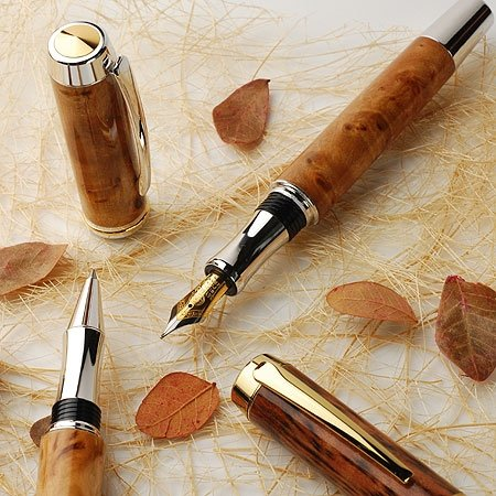 Classic Wood Gent Wood Turned Fountain Pen