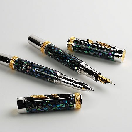 Imperial Rollerball Pen Kit - Rhodium & 22KT Gold open 4