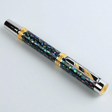 Imperial Rollerball Pen Kit - Rhodium & 22KT Gold - open
