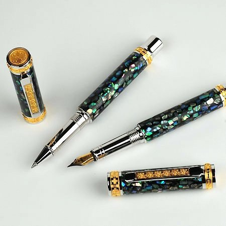 Jr Emperor Rollerball Pen Kit - Rhodium & 22K Gold 2