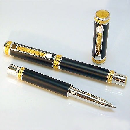 Jr Emperor Rollerball Pen Kit - Rhodium & 22K Gold