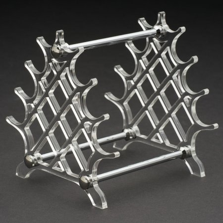 Acrylic Arc Pen Stand - Lattice. Alt View.