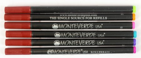 Monteverde 888 Rollerball Refills - Rainbow Sampler (Set of 6 Colors)