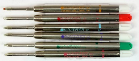 Monteverde Parker Style GEL Refills - Rainbow Sampler (Set of 6)