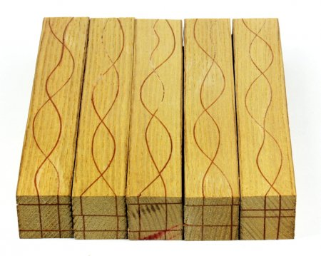 Segmented Serpentine Blanks - Sassafras With Mahogany Veneers
