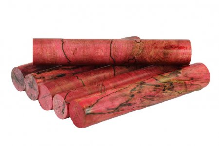 Terry's Spalted Maple pen blanks - Stabilized & Dyed Red