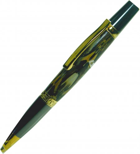 Zodiac Stylus Pen Kit - Ti Gold & Gunmetal (Ti Gold Band)feather