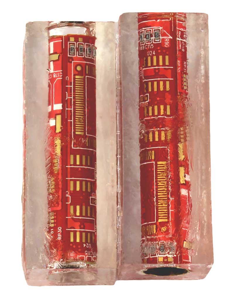 Computer Circuit Board Pen Blanks - Cigar Pen - Red
