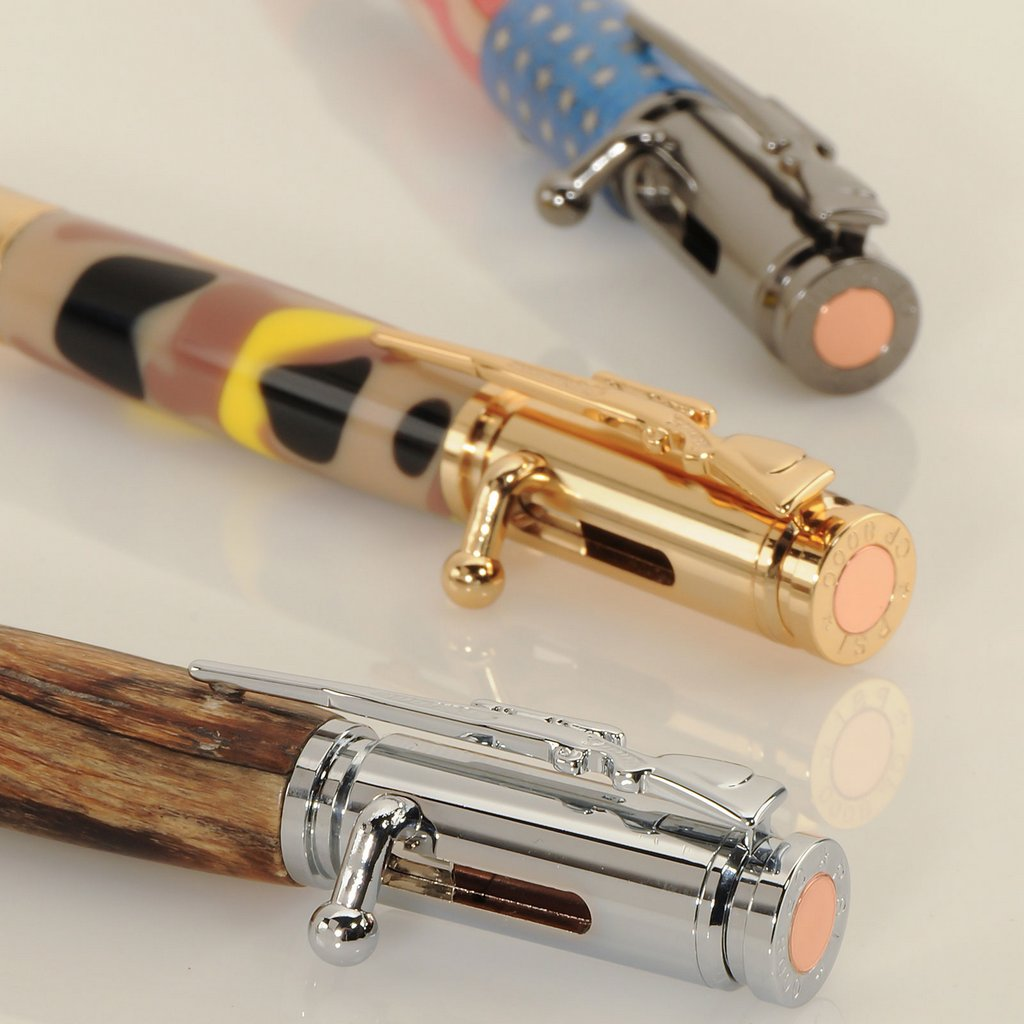 Bolt Action Pencil Kit Chrome